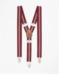 Express - Striped Suspenders - Lyst