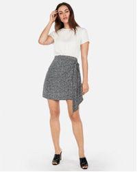 Express - Short Sleeve Tie Front Wrap Dress - Lyst