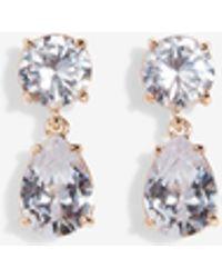 Express - Cubic Zirconia Round Teardrop Earrings - Lyst