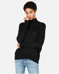 b46e2f59612f Express Fuzzy Sleeveless Turtleneck Sweater in Black - Lyst
