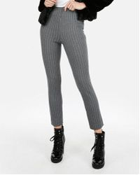 Express - High Waisted Striped Ponte Pull-on Skinny Pant - Lyst