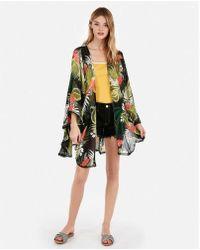 Express - Floral V-back Cover-up - Lyst