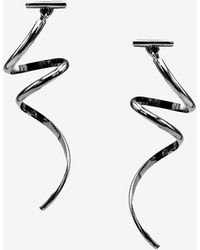 Express Tuleste Spiral Earrings - Black