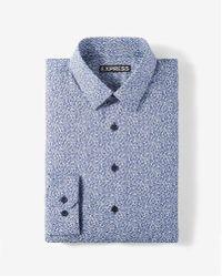 Express - Modern Fit Floral Cotton Dress Shirt - Lyst