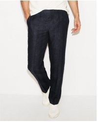 Express - Men's Classic Textured Plaid Linen Dress Pant - Lyst