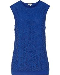Reiss Octavia Lace-Front Top - Lyst