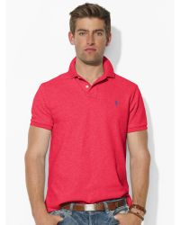 Polo Ralph Lauren Custom-Fit Mesh Polo pink - Lyst