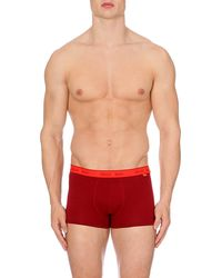 Calvin Klein Two-toned Stretch-cotton Trunks - Lyst