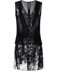 Nina Ricci Patchwork Lace Mini Dress - Lyst