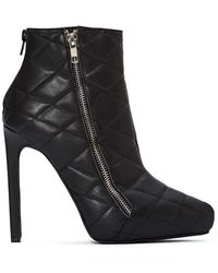 Nasty Gal Jeffrey Campbell Gridley Quilted Leather Boot - Lyst
