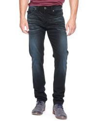 True Religion Dean Tapered with Flap Black Stretch Mens Jean - Lyst