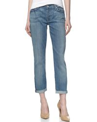 7 For All Mankind Josefina Skinny Boyfriend Cuffed Jeans - Lyst