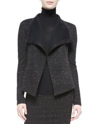 Donna Karan New York Sculpted Knit Clutch Jacket - Lyst
