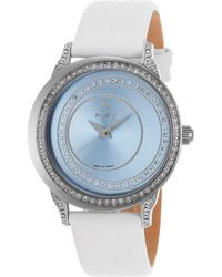 Thierry Mugler Women'S Black Genuine Leather Blue Dial white - Lyst