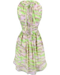 Carven Poplin Camo Print Dress - Lyst
