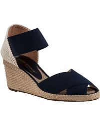 Andre Assous Erika-Mid Wedge Espadrille Navy Fabric blue - Lyst