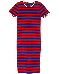 Harvey Faircloth Stripe Fitted T-Shirt Dress - Lyst