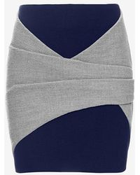 Thakoon Addition - Colorblock Wrap Mini Skirt - Lyst