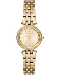 Michael Kors Darci Petite PavÉ Goldtone Stainless Steel Bracelet Watch gold - Lyst