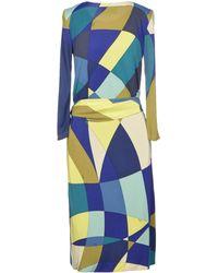 Emilio Pucci Multicolor Knee-length Dress - Lyst
