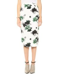 A.L.C. Bell Skirt White Floral - Lyst