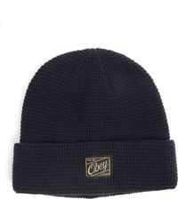 Obey Roscoe Beehive Navy Blue Beanie - Lyst