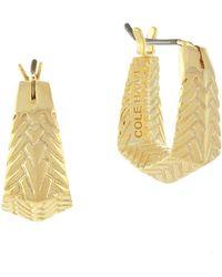 Cole Haan - Basket Weave Hoop Earrings - Lyst