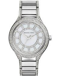 Michael Kors Kerry Stainless Steel & Mother-Of-Pearl Glitz Bracelet Watch - Lyst