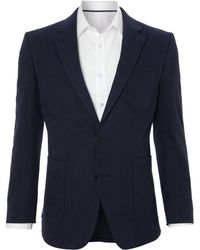 New & Lingwood Cotton Herringbone Blazer black - Lyst