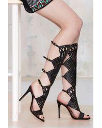 Nasty Gal Schutz Brasiliania Knee-High Leather Heel - Lyst