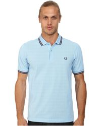Fred Perry Slim Fit Twin Tipped Polo - Lyst