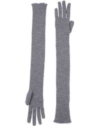 Miu Miu Gray Gloves - Lyst