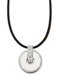 John Hardy Mens Classic Chain Round Pendant Necklace - Lyst