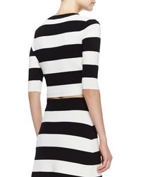 Theory Prosecco Harmona S Striped Crop Top - Lyst