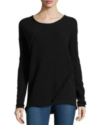 Donna Karan New York Long-Sleeve Fold Top - Lyst