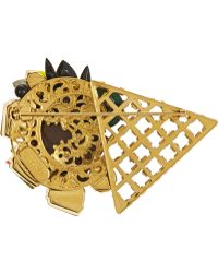 Vickisarge - Jungle Nights Gold-Plated Crystal Brooch - Lyst