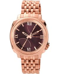 Vince Camuto - Men'S Rose Gold Ion-Plated Stainless Steel Bracelet 44Mm Vc-1002Byrg - Lyst