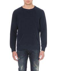 Diesel S-tau Cotton-jersey Sweatshirt Blue - Lyst
