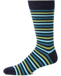 Saks Fifth Avenue Collection | Four Thin Striped Socks | Lyst