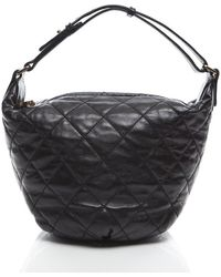 Chanel Black Lambskin Quilted Cloudy Bundle Hobo Bag - Lyst