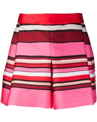 Alberta Ferretti Pleated Shorts - Lyst
