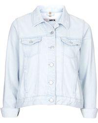 Topshop Moto Ice Bleach Western Jacket  Ice Blue - Lyst
