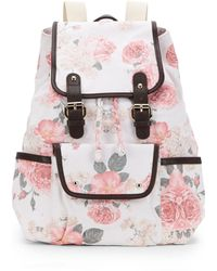 Wildfox Austin Floral Canvas Backpack - Lyst