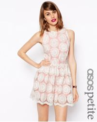 Asos Playsuit in Pastel Lace - Lyst