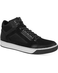 Lanvin Mesh Mid-Top Trainers - For Men - Lyst