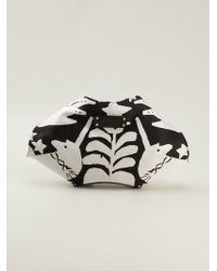 Alexander McQueen Medium De Manta Clutch - Lyst