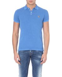 DSquared2 Dog Logo Cotton Polo Shirt - Lyst