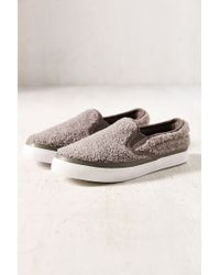 Jeffrey Campbell Ray Shearling Slipon Sneaker - Lyst