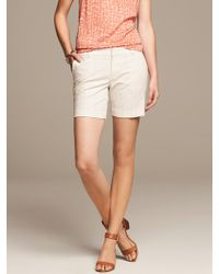 Banana Republic Heritage Jacquard Short Cream - Lyst