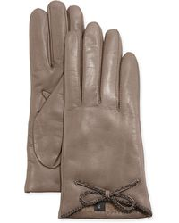 Portolano Leather Driving Gloves with Chain Bow - Lyst